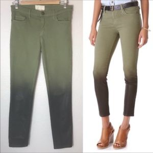 Current/Elliott Stiletto Ombré Green Jeans